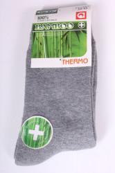 Pánske bambusové THERMO ponožky (FFV001) - sivé