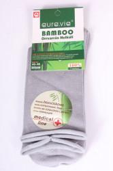Pánske bambusové zdravotné ponožky (FFG99) - bledosivé