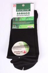 Pánske bambusové zdravotné ponožky (FFG99) - čierne