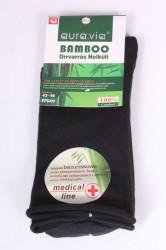 Pánske bambusové zdravotné ponožky (FFG99) - tmavozelené