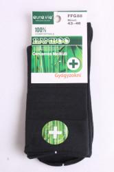 Pánske bambusové zdravotné ponožky (v. 43-46) - tmavozelené