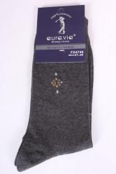 Pánske bavlnené ponožky (FX4749) - antracit