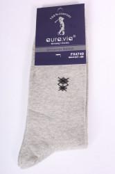 Pánske bavlnené ponožky (FX4749) - bledosivé