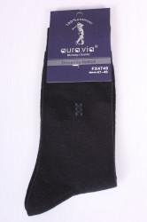 Pánske bavlnené ponožky (FX4749) - tmavosivo-zelené