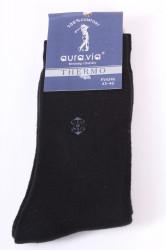 Pánske bavlnené ponožky THERMO (FV4346) - čierne 1.