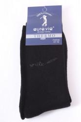 Pánske bavlnené ponožky THERMO (FV4346) - čierne 2.