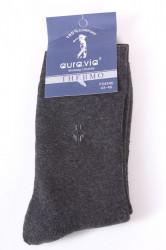 Pánske bavlnené ponožky THERMO (FV4346) - sivé 2.