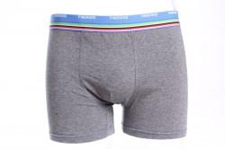 Pánske boxerky FINDROAD (H7019) zdobené farebnou gumou - sivé