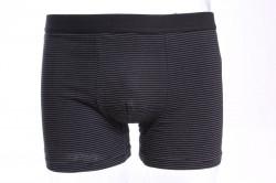 Pánske boxerky s bielymi tenkými pásikmi FINDROAD (H7003) - čierne