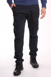 Pánske elastické INDUSTRIAL nohavice s vreckami LOSHAN (6618-31) - tmavosivé