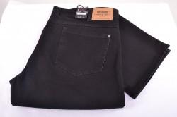 Pánske elastické nohavice DOCKHOUSE - 1065 - čierne
