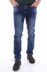 Pánske elastické rifľové nohavice M.SARA-DENIM (KA595) - modré