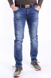 Pánske elastické rifľové nohavice M.SARA DENIM (KA851-2) - modré