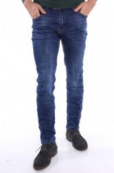 Pánske elastické rifľové nohavice M.SARA (KA639) - modré