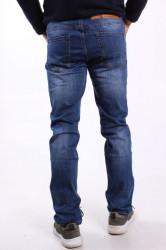Pánske elastické rifľové nohavice MID.POINT (KB2067) - modré #1