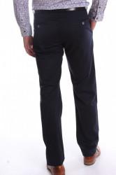 Pánske elastické športovo-elegantné nohavice BENAHOLL - tmavomodré #1