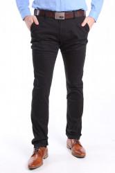Pánske elastické športovo-elegantné nohavice M.SARA DENIM (KA8865) - čierne