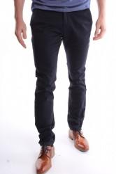Pánske elastické športovo-elegantné nohavice M-SARA (KA8731-61) - tmavomodré