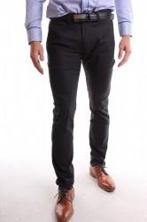 Pánske elastické športovo-elegantné nohavice MID-POINT (KA139-13) - čierne