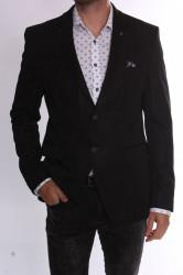 Pánske elastické športovo-elegantné sako CLASSIC (3354) - čierne #1