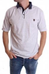 Pánske elastické tričko (9071) - bledosivé