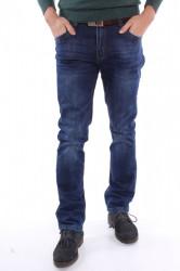 Pánske elastické zimné rifľové nohavice M.SARA (KA719) - modré