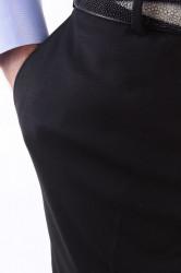 Pánske elegantné nohavice BOGANT - čierne #1