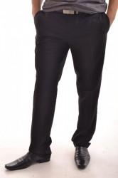 Pánske elegantné nohavice - čierne P22