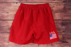 Pánske plavky K-9866 - červené