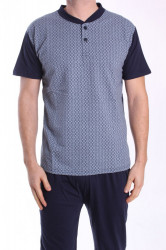 Pánske pyžamo s krátkym rukávom VZOR 38