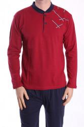 Pánske pyžamo VZOR 0016 - bordové