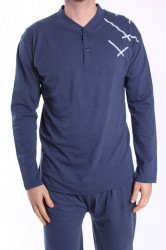 Pánske pyžamo VZOR 0016 - modré
