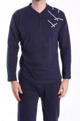 Pánske pyžamo VZOR 0016 - tmavomodré