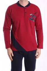 Pánske pyžamo VZOR 0017 - bordové