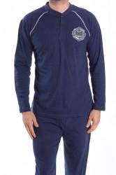 Pánske pyžamo VZOR 0020 - tmavomodré