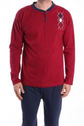 Pánske pyžamo VZOR 0024 - bordové