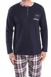 Pánske pyžamo VZOR 0025 - tmavomodré