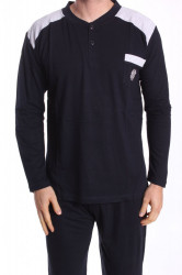 Pánske pyžamo VZOR 0046 - tmavomodré