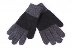 Pánske rukavice dvojfarebné - čierno-sivé