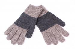 Pánske rukavice dvojfarebné - sivo-béžové