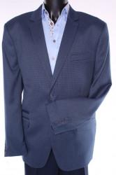 Pánske sako (v. 182 cm) - modro-čierne