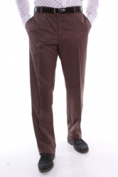 Pánske športovo-elegantné nohavice (6591) THEORIE - hnedé