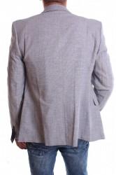 Pánske športovo-elegantné sako melírované VZOR 3331 - bledosivé #1