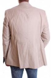 Pánske športovo-elegantné sako melírované VZOR 3345 - béžové #1