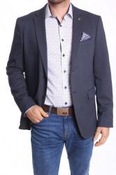 Pánske športovo-elegantné sako MODEL 3150 - tmavomodro-biele
