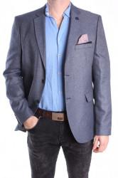 Pánske športovo-elegantné sako MODEL 3542 - rifľovomodré