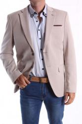 Pánske športovo-elegantné sako MODEL 474 - sivo-béžové