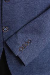Pánske športovo-elegantné sako nadmerné MODEL 3551 - rifľovomodré #1