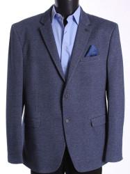 Pánske športovo-elegantné sako nadmerné MODEL 3551 - sivomodré #1