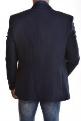Pánske športovo-elegantné sako - tmavomodré 1. #1